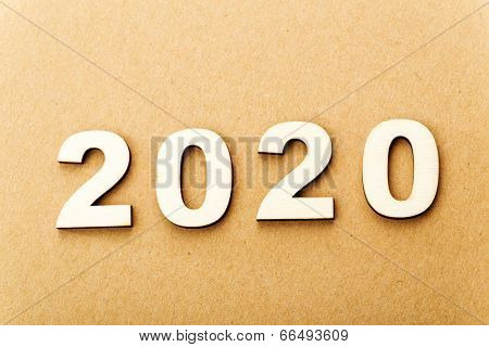 Wooden text for year 2020