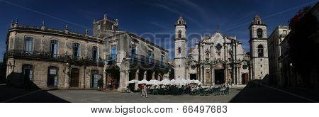 Plaza De La Catedral - Havana, Cuba - January 30,2011