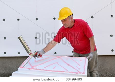 Construction Site, Styrofoam Insulation