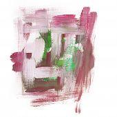 foto of dab  - art paint brush rough dab stroke texture spot blotch - JPG