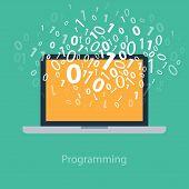 foto of binary code  - User programming coding binary code - JPG