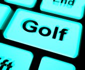 foto of miniature golf  - Golf Keyboard Meaning Golfer Club Or Golfing - JPG