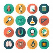 foto of microchips  - set of modern vector science icons for various uses - JPG