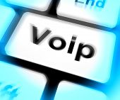 pic of voip  - Voip Keyboard Meaning Voice Over Internet Protocol Or Broadband Telephony - JPG