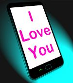 picture of adoration  - I Love You On Mobile Showing Adore Romance - JPG