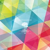 stock photo of geometric shape  - The abstract geometric 3D background - JPG