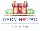 image of home is where your heart is  - Open House real estate sign - JPG