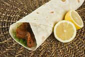 stock photo of grout  - One of the most famous Turkish food called Cigkofte made of grout - JPG