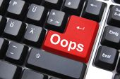 stock photo of oops  - oops key showing mistake error or failure - JPG