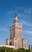 Постер, плакат: Palace Of Culture In Warsaw Poland