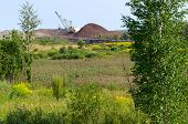 pic of dozer  - The natural landscape near the dozer and excavator mining operations - JPG