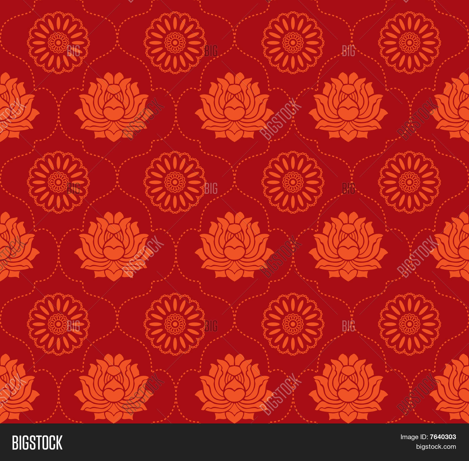 Seamless Indian Pattern Stock Vector & Stock Photos | Bigstock