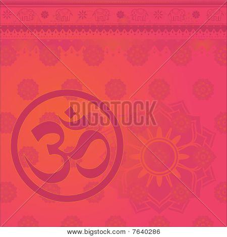 Om Indian Background