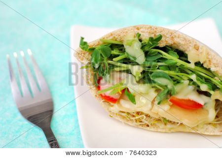 Healthy Pita Bread Pocket Salad