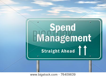 Highway Signpost Spend Management