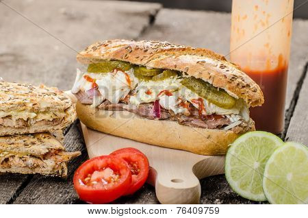 Pulled Pork Sandwich Panini