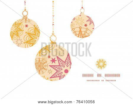 Vector warm stars Christmas ornaments silhouettes pattern frame card template
