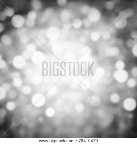 Silver Abstract Festive Background. Glitter Vintage Lights Background With Gold And Black Lights, De