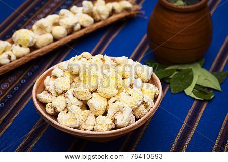 Bolivian Snack Pasancalla (Sweetened Popped Corn)