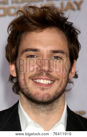 m LOS ANGELES - NOV 17:  Sam Claflin at the The Hunger Games: Mockingjay Part 1 Premiere at the Nokia Theater on November 17, 2014 in Los Angeles, CA