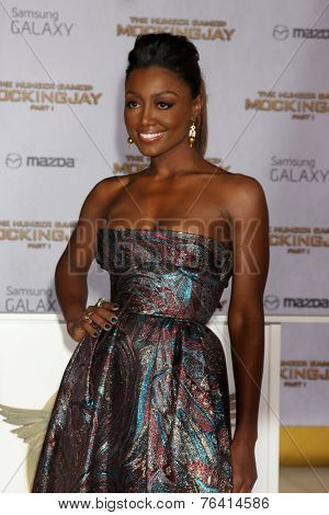 m LOS ANGELES - NOV 17:  Patina Miller at the The Hunger Games: Mockingjay Part 1 Premiere at the Nokia Theater on November 17, 2014 in Los Angeles, CA