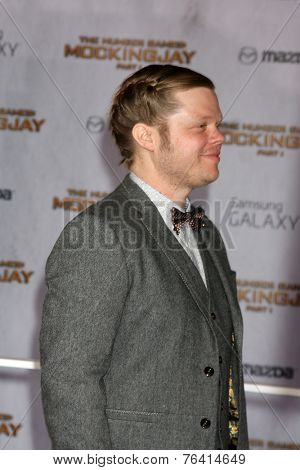 m LOS ANGELES - NOV 17:  Eldon Henson at the The Hunger Games: Mockingjay Part 1 Premiere at the Nokia Theater on November 17, 2014 in Los Angeles, CA