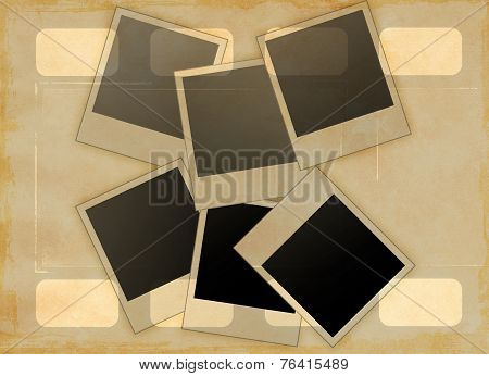Grunge Abstract Background And Frames For Photo.