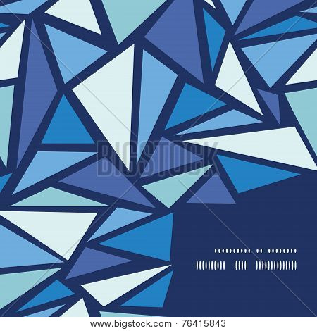 Vector abstract ice chrystals frame corner pattern background