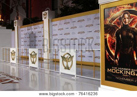 m LOS ANGELES - NOV 17:  Atmosphere at the The Hunger Games: Mockingjay Part 1 Premiere at the Nokia Theater on November 17, 2014 in Los Angeles, CA