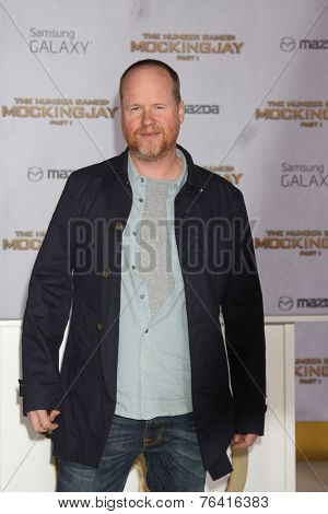 LOS ANGELES - NOV 17:  Joss Whedon at the The Hunger Games: Mockingjay Part 1 Premiere at the Nokia Theater on November 17, 2014 in Los Angeles, CA