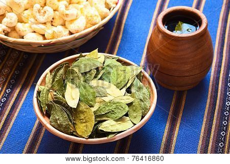 Dried Coca Leaves and Coca Tea