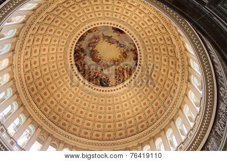Cupola of United States Capitol Building, Washington, USA