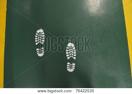 Foot Print On The Pathway