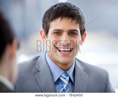 Positive Businessman In A Meeting