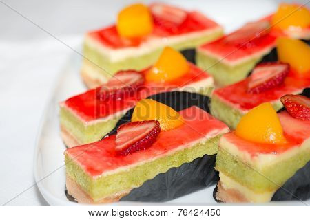 Strawberry And Peach Cakes