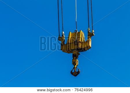 Crane Rigging Hook Blue