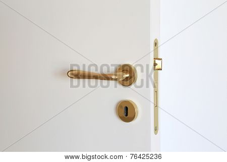Door Lock Isolated On White Background