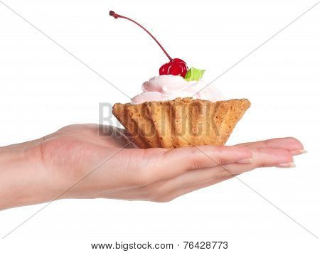 Hand With Cake