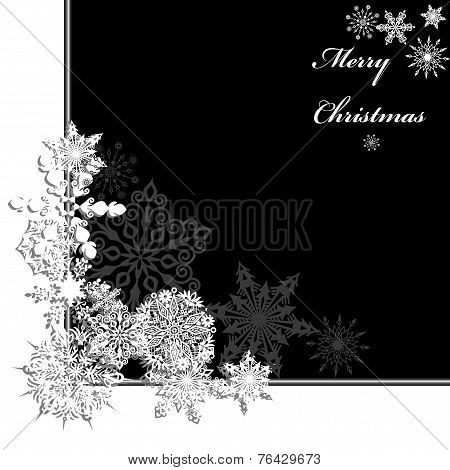 Frame Of Christmas Snowflake