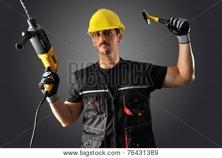 Worker With Yellow Helmet