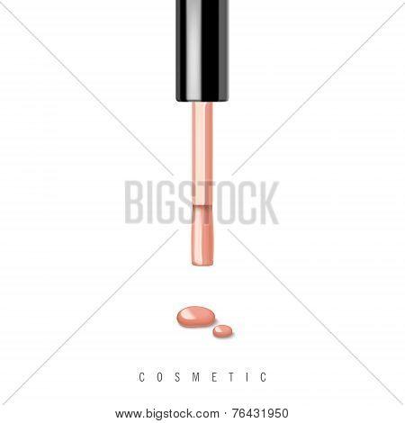 Pink Nail Polish And Brush