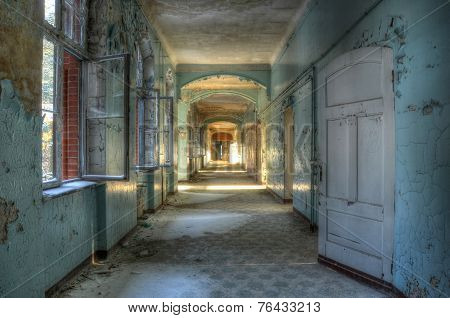 Old Corridor In Beelitz