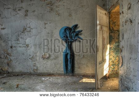 Graffiti In An Abandoned Hospital