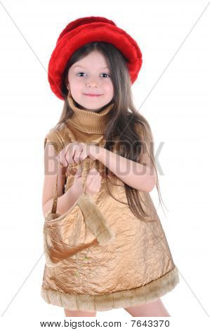 The Little Girl In A Red Hat