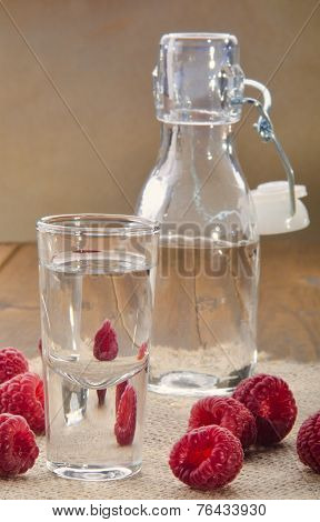 Raspberry Schnapps In A Glass