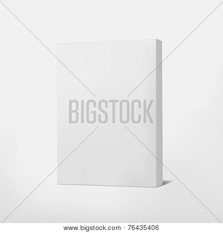 Package White Cardboard Box Isolated On White