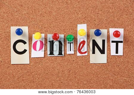 Content Single Word