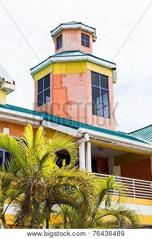 Orange Blue And Yellow Plaster Building In Nassau