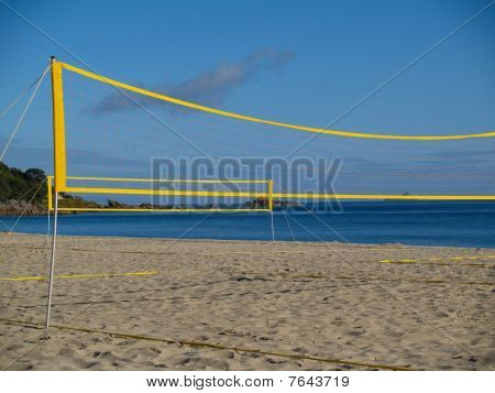 Beach valloey ball nets.