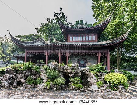 pagoda temple Kowloon Walled City Park in Hong Kong